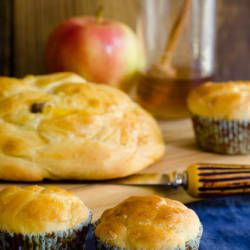 Round challah (airy, eggy, braided bread) is served on Rosh Hashana, the Jewish new year, to symbolize the cycle of life. I baked round challah for the fir...