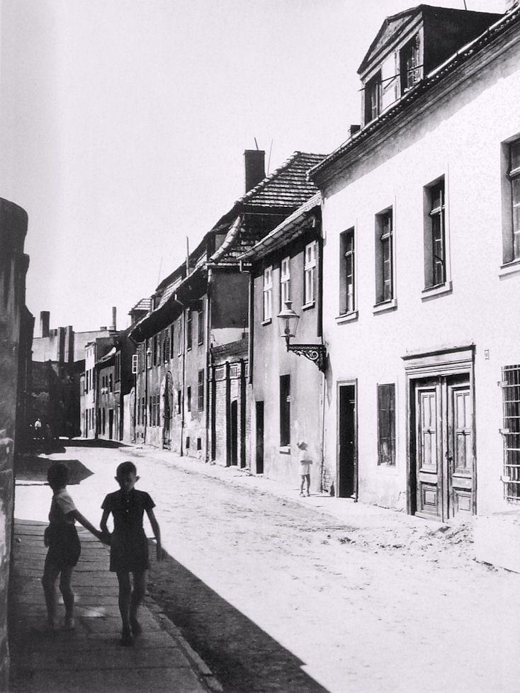 Ulica Pod Blankami w pobliżu ulicy Trybunalskiej - 1965