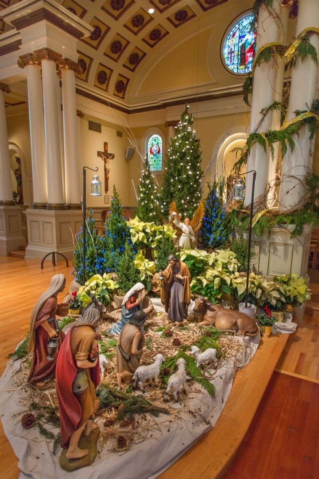 Nativity Church Environment Churches Decoration And Christmas