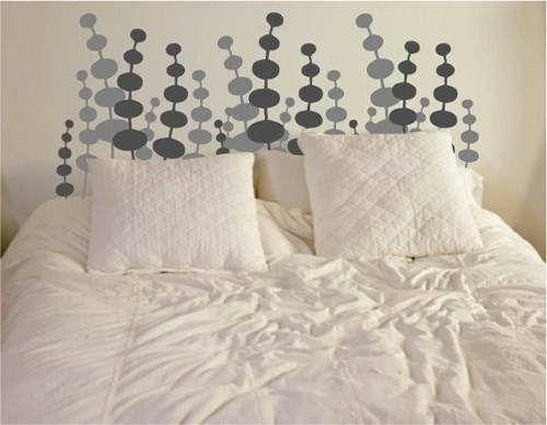 Respaldo para sommier y cama en vinilo decorativo deco pop for Vinilo cabecero cama