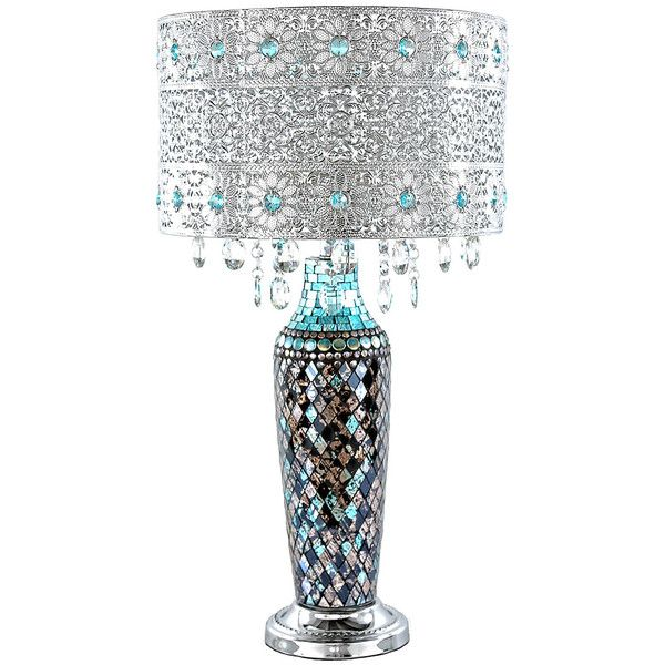 River Of Goods Turquoise Gloria Crystal Beaded Table Lamp ❤ Liked On  Polyvore Featuring Home