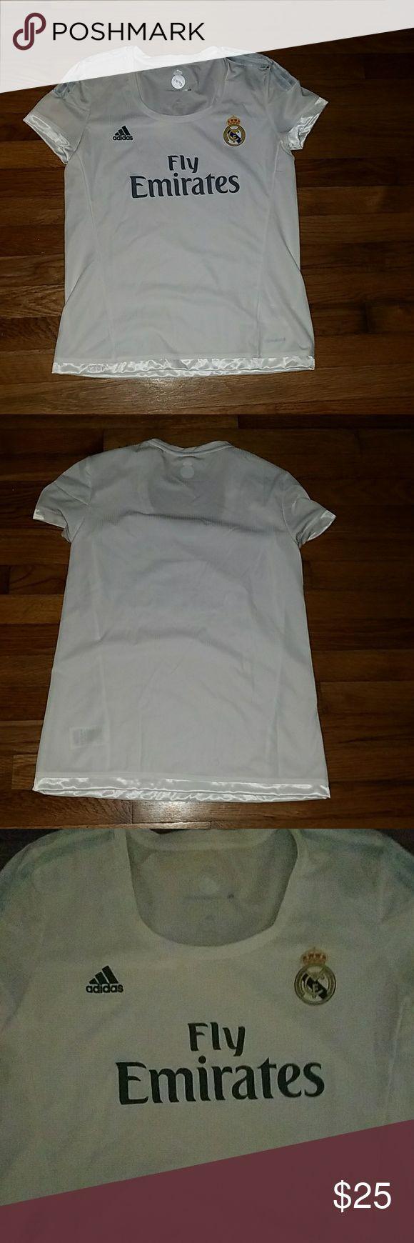 Real Madrid Adidas T-Shirt Women's Real Madrid Adidas T-Shirt Women's  Soccer League 2015-2016 Size L Good Condition adidas Tops Tees - Short Sleeve