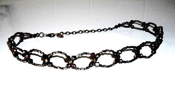 Vintage Robert Rose Choker Necklace Deep Purple by designfrills, $16.00