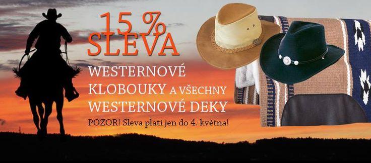 Sleva 15% na westernové deky pod sedlo a westernové klobouky na eshopu https://www.obluk.cz/index.php
