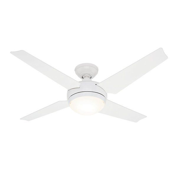 You Ll Love The 52 Quot Sonic Reg 4 Blade Led Ceiling Fan At Wayfair Great Deals On All Lighting Prod Ceiling Fan White Ceiling Fan Ceiling Fan With Remote