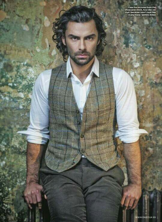 Aidan Turner as Ross Poldark - clean, crisp voice with an honesty to it; means business but soothing at the same time