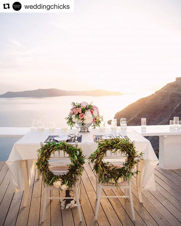 #Repost @weddingchicks (@get_repost)  An intimate wedding in Greece. This view is beyond amazing. #DestinationWedding | Photography by @sotiris_tsakanikas | Cake @_alexandrascakes_ | Coordinator and stylist @stellaandmoscha | Flowers and decor @weddingwishsantorini | Hair: Georgia Theodoraki | Makeup: Renia Bledaki | Venue @sunrockssantorini | Wedding dress @watters | #sweethearttable #weddingvenue #wedding #weddingchicks #sponsored #elopementphotography #santorini #weddingphotography #film…