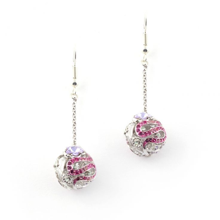 *Online Exclusive* Botanical Drop Earrings (Rhodium) | Fashion Jewellery