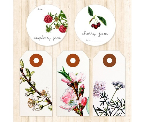 Etichette stampabili per le marmellate...slurp!!