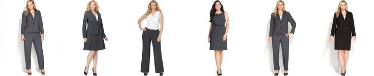 Calvin Klein Plus Size Suit Separates Collection