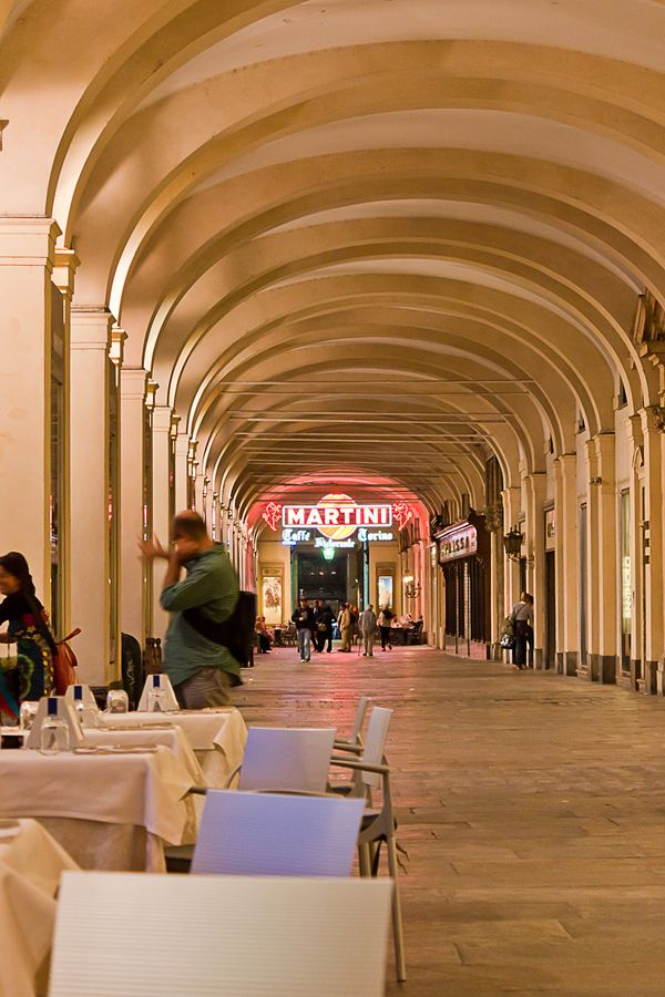 This is just a beautiful piazza, lined with cafes and history. Piazza San Carlo, Torino, Italy