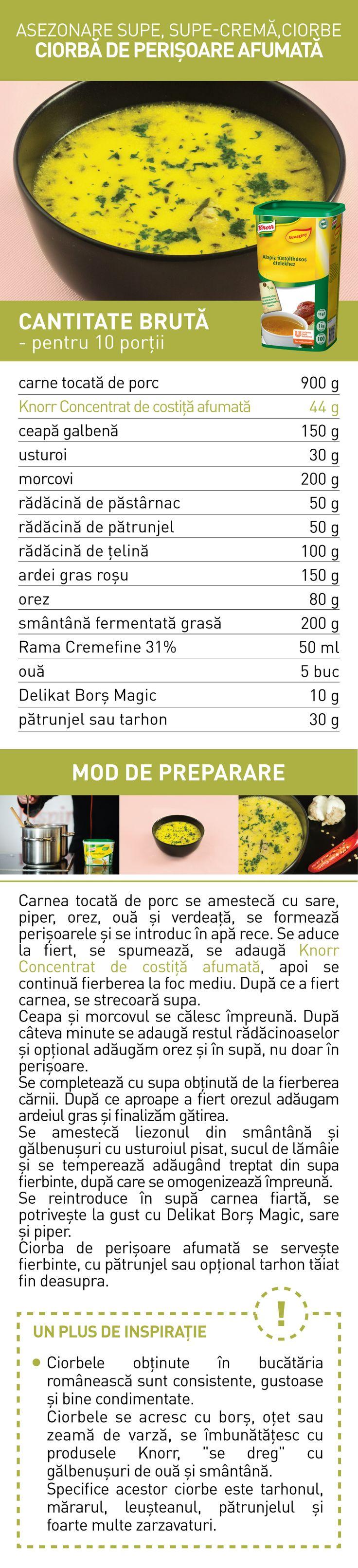 Asezonare supe, supe-crema, ciorbe (III) - RETETE