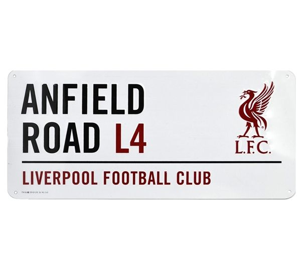 Anfield Road Metal Sign