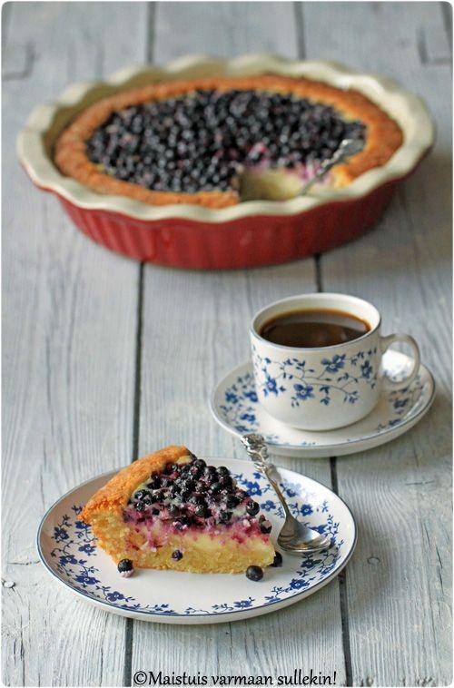 Maistuis varmaan sullekin!: Mustikka-jogurttipiirakka