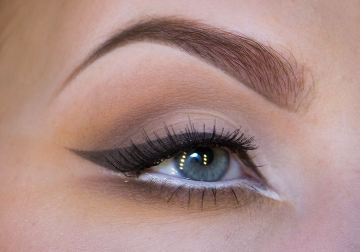 brown eyeliner with a white twist