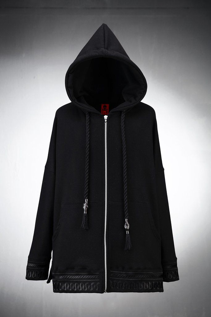 Antique Embroidery Zip-up Hoodie