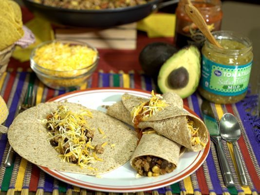 Fast, easy & so healthy for your family: my Hot & Spicy Burrito Meat. Filled with lean protein + vegetables.
