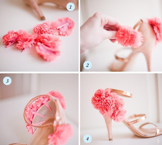 47 best diy shoes upscale images on pinterest shoes sandals diy flower shoe clips solutioingenieria Choice Image