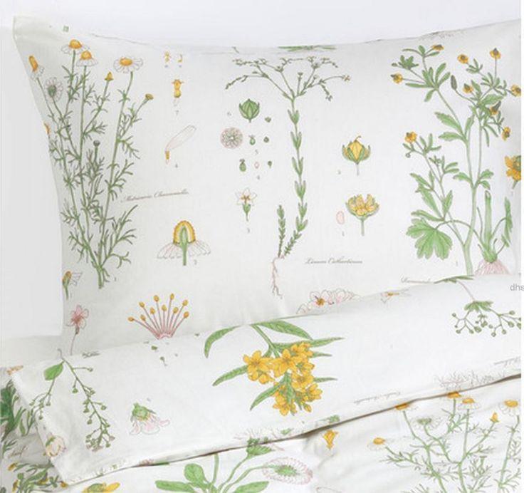 NEW IKEA STRANDKRYPA Duvet Quilt cover set Lovely Floral design Comforter Cover  #IKEAIKEAofSweden #Botanical