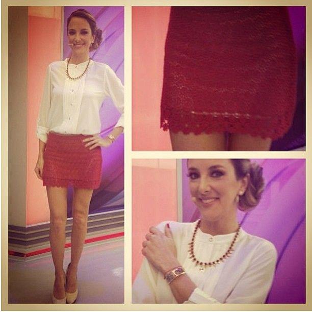 .@dresseco   Tici Pinheiro ontem linda de saia de guipir da DressCo. By @Denise Tavares   Webstagram - the best Instagram viewer
