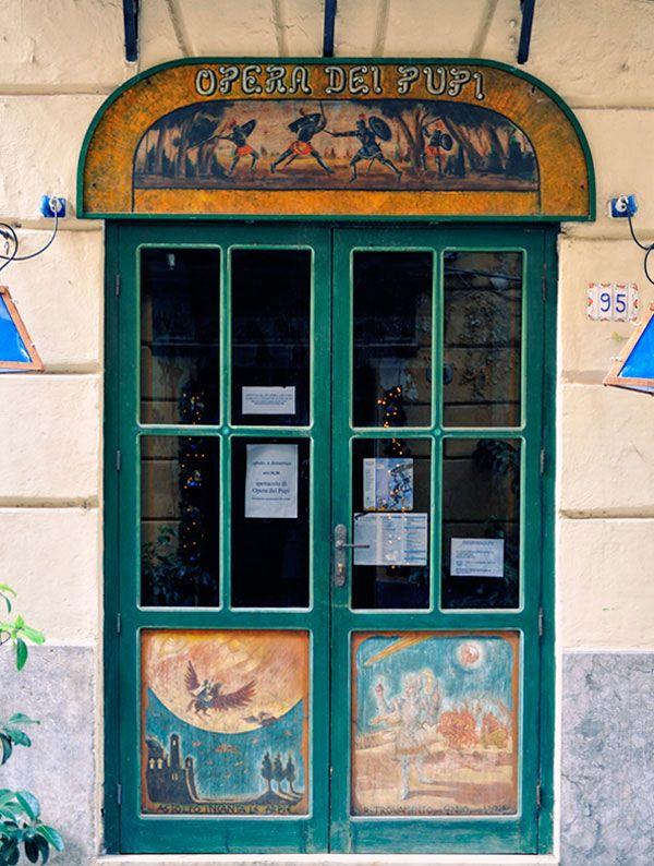 Puppet theatre (l'opera dei pupi) of the Cuticchio family, via Bara All'Olivella, Palermo.