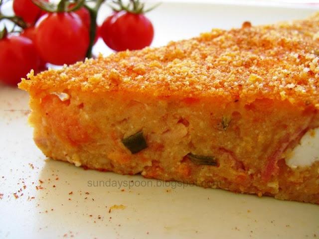 Tomato-pie with bacon / Ντοματόπιτα με μπέικον