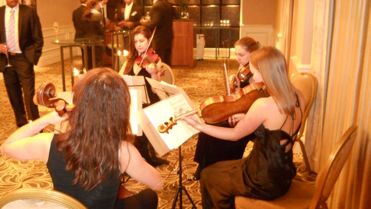 String quartet for wedding reception in The Langham, central London