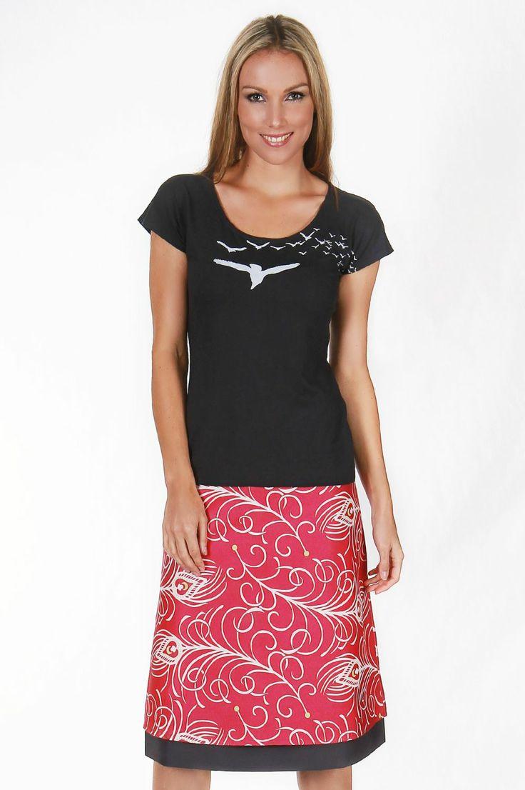 Peacock Pink Reversible Skirt