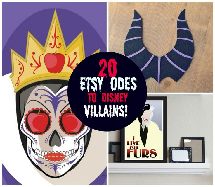 For Halloween we are paying tribute to Disney Villains! Here are 20 Etsy Odes to Disney Villains!