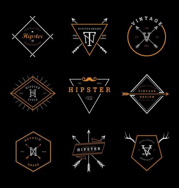 Hipster Badges Collection Vintage Design Style Hipster Brands Hipster