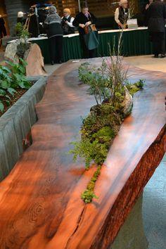 garden table原木的魅力