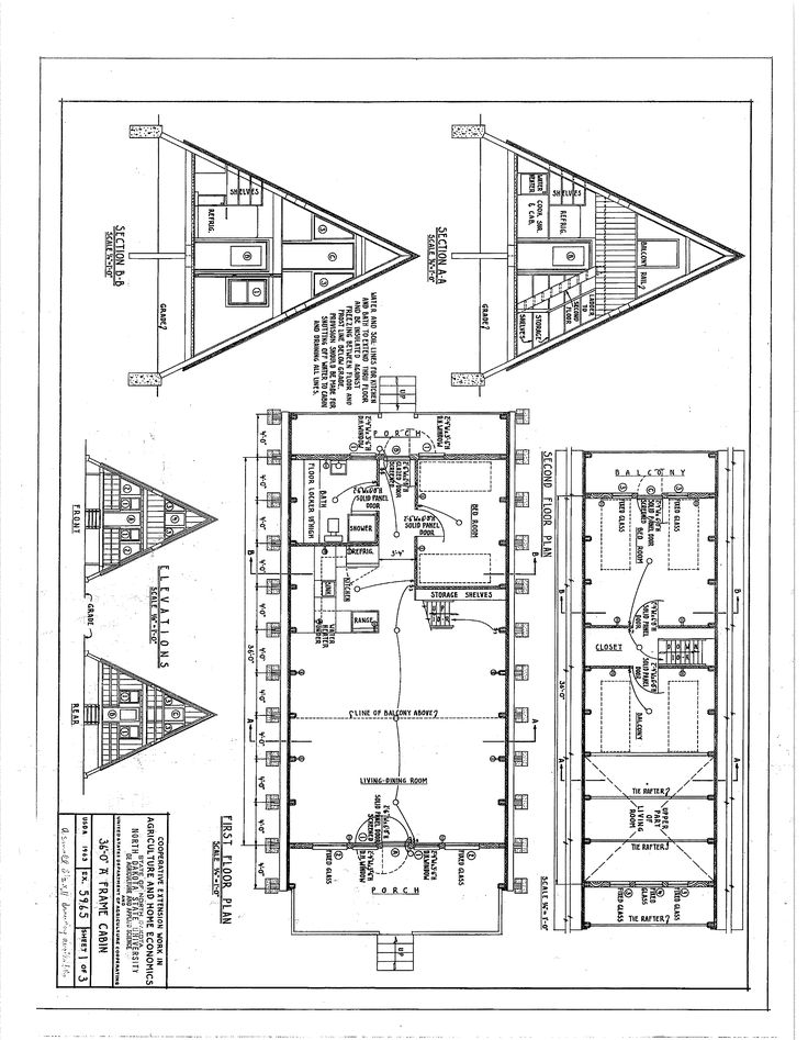 free a frame cabin plans blueprints construction documents sds plans - Cabin Floor Plans