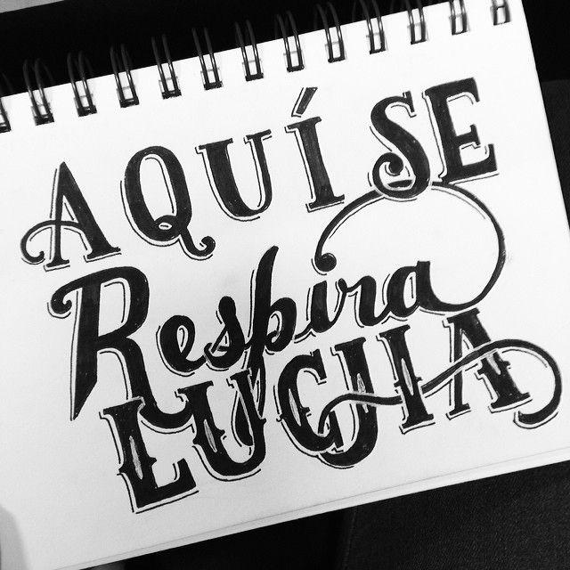 Day #55 of #365daysoflettering Aqui Se Respira #lucha #calle13 #lettering #handlettering #latinoamerica #illustration #sketch #design #typog...