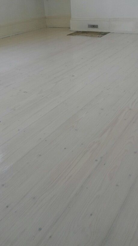 White stained pine