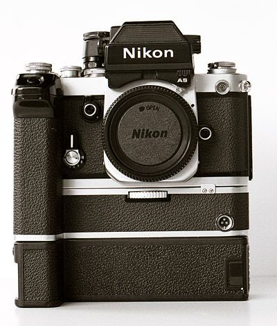 Nikon F2AS, can you imagine how heavy this was to carry three of these?