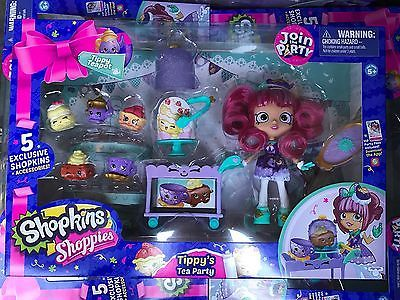 NEW-2017-Shopkins-Shoppies-TIPPY-039-S-TEA-PARTY-5-Exclusive-Accessories-IN-HAND-Now