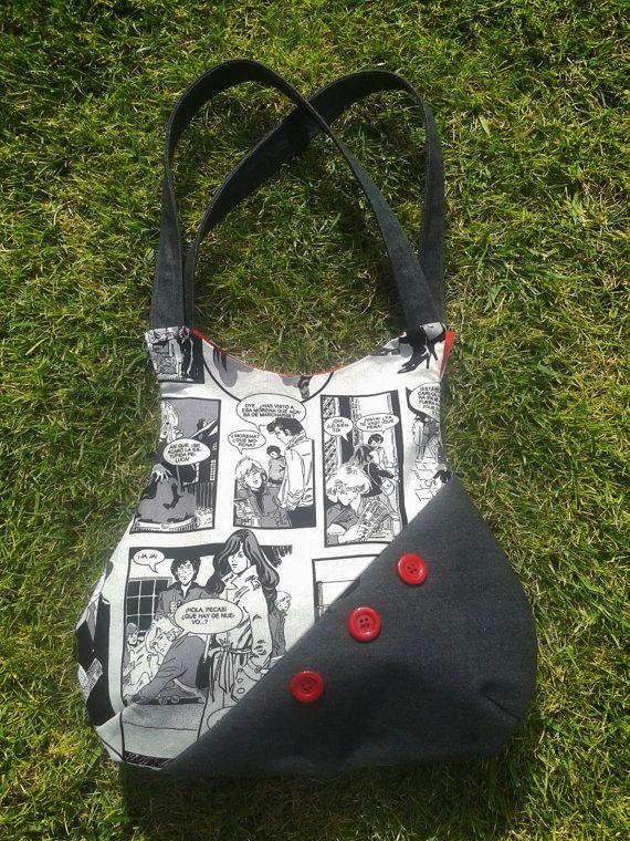 Bolso en tela hecho a mano por LospajaritosdeClara en Etsy, €25.00