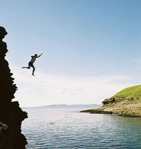 Cliff Diving!