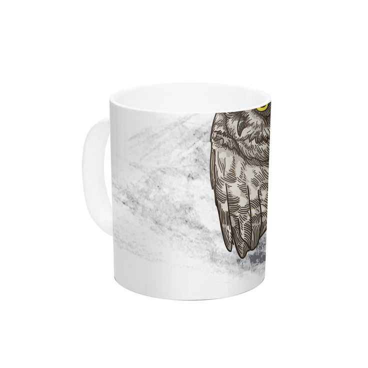 "Sam Posnick ""Midnight Marauder "" Gray Brown Ceramic Coffee Mug"