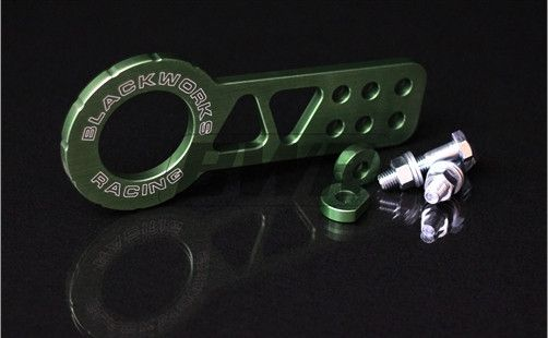 Blackworks Racing Billet FRONT Tow Hook - GREEN
