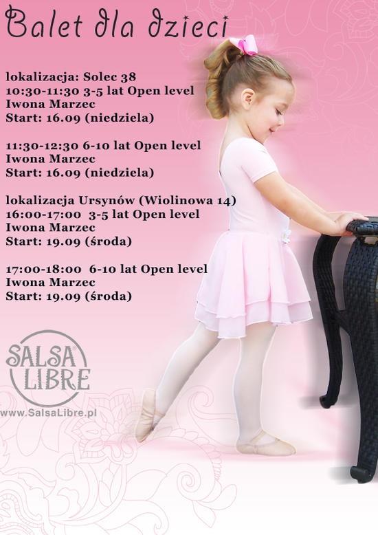 Balet dla dzieciaków w SL - pierwsze zajęcia GRATIS! :)  Więcej na www.SalsaLibre.pl/KIDS