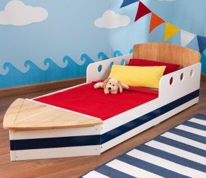 BOAT TODDLER BED for Boys and Girls