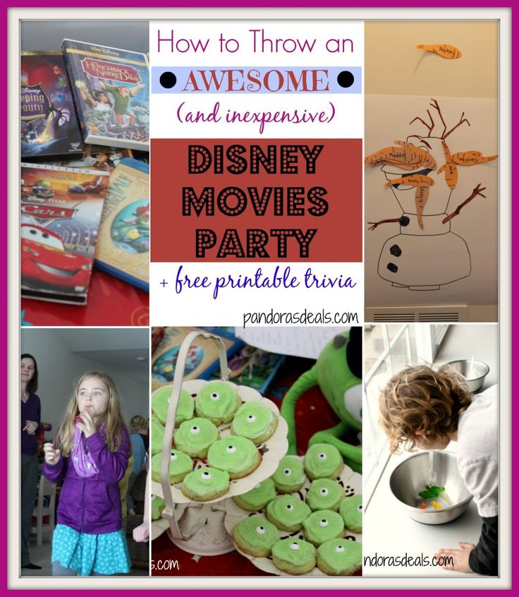 How to Throw a Disney Movies Party