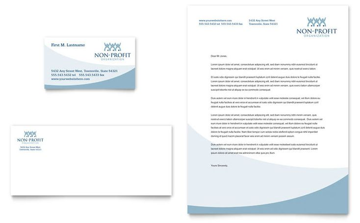 Community Non Profit Business Card  Letterhead Template Design