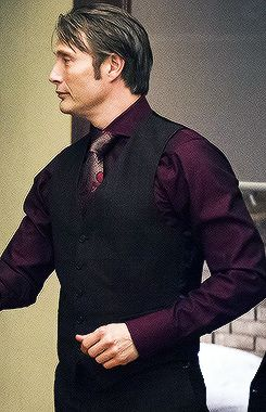 Mads Mikkelsen as Dr. Hannibal Lecter (I love this particular outfit on him)