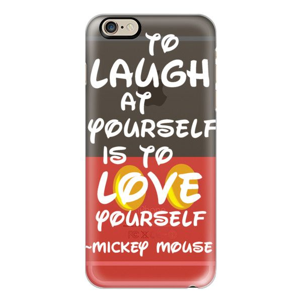iPhone 6 Plus/6/5/5s/5c Case - Disney Mickey Mouse To Laugh at... (€35) ❤ liked on Polyvore featuring accessories, tech accessories, iphone case, slim iphone case, iphone cover case and apple iphone cases