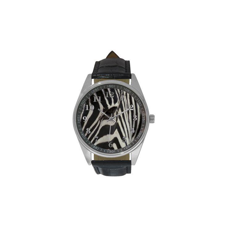 Zebra Men's Casual Leather Strap Watch. FREE Shipping. #artsadd #watches #zebra