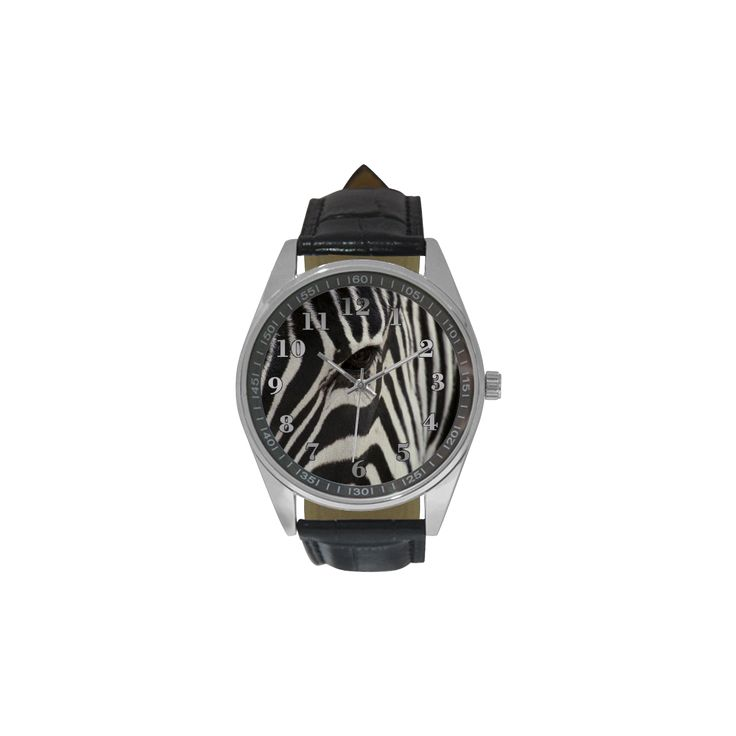 Zebra Men's Casual Leather Strap Watch. FREE Shipping. #artsadd #watches #zebra