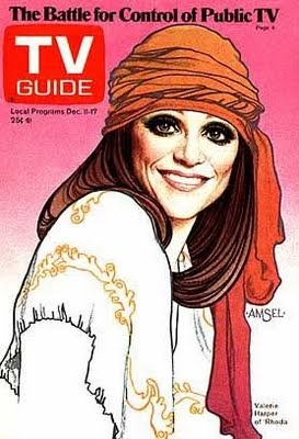 Loved RhodaValerie Harpers, Guide Covers, Little Apartment, Richard Amsel, 1970S Fashion, Tv Guide, Head Band, December 11, Head Scarf