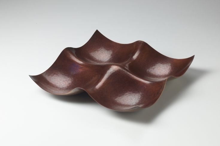 """JACK DA SILVA CONVERGENCE I  Functional bowl. Copper, raised with multiple centers.  2"""" x 11"""" x 11"""""""
